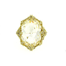 Judith Ripka 18K Yellow Gold Diamond Ring Size 7