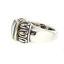 John Hardy Sterling Silver Topaz Ring Size 7.25