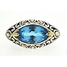 John Hardy Sterling Silver Topaz Ring Size 7