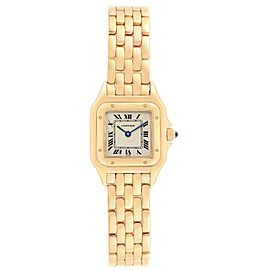 Cartier Panthere 22mm Yellow Gold Silver Dial Ladies Watch W25022B9