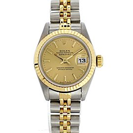 Rolex Oyster Perpetual Datejust 69173 Vintage 26mm Womens Watch