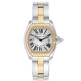 Cartier Roadster Steel 18K Yellow Gold Ladies Watch W62026Y4