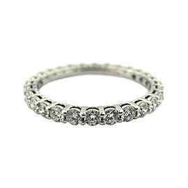 Tiffany & Co. Platinum Diamond Wedding Ring Size 5.25