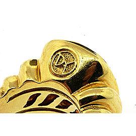 David Yurman Noblesse 18K Yellow Gold Citrine Ring Size 6