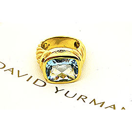 David Yurman Noblesse 18K Yellow Gold Topaz Ring Size 6