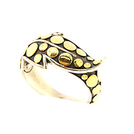 John Hardy Ayu 18K Yellow Gold, Sterling Silver Ring Size 5