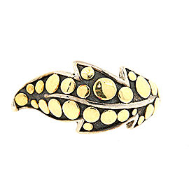 John Hardy Ayu Leaf 18K Yellow Gold, Sterling Silver Ring Size 5