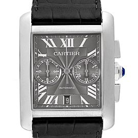Cartier Tank MC Automatic Grey Dial Chronograph Mens Watch W5330008