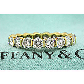 Tiffany & Co. Diamond 18K Yellow Gold Diamond Ring Size 5.75