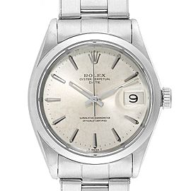 Rolex Date Automatic Stainless Steel Vintage Mens Watch 1500