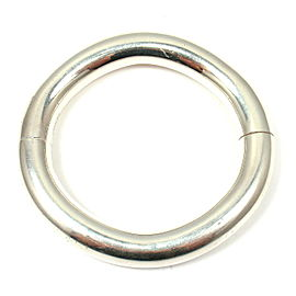 Hermes 925 Sterling Sterling Silver Bangle Bracelet