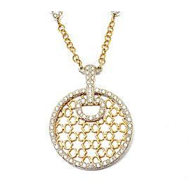 Charriol Logo 18K Gold 0.35ctw Diamond Pendant Necklace