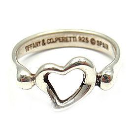Tiffany & Co. 925 Sterling Silver Elsa Peretti Open Heart Ring Size 5.5