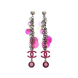 Chanel CC Pink Earrings