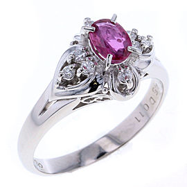 Platinum Ruby, Diamond Ring