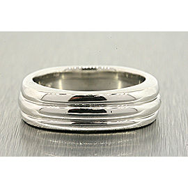 Scott Kay Platinum Wedding Band Ring 3 Row Lined Ring Size 6.5