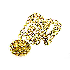 Tiffany & Co. Scorpio Zodiac 18k Pendant Large Medallion Chain 1970's
