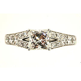 The Leo Princess Diamond Engagement Ring 14k White Gold .98 I SI1 GIA 5.75