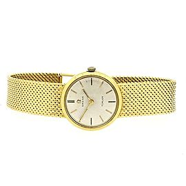 Omega Turler 18k Gold MESH BRACELET LADIES WATCH 46G Solid Rare