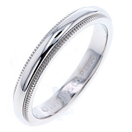 Tiffany & Co. Millgrain Platinum Ring Size 4.25