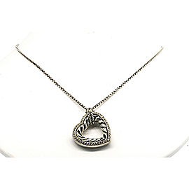 David Yurman Large Pave Cable Heart Diamond Pendant
