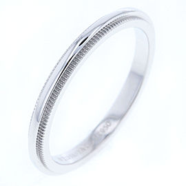 Tiffany & Co. Millgrain Platinum Ring Size 5.5