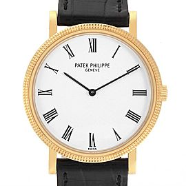 Patek Philippe Calatrava 18K Yellow Gold Automatic Mens Watch 5120