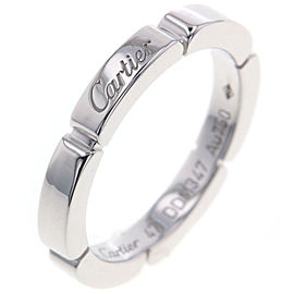 Cartier Maillon Panthere 18K White Gold Ring Size 4