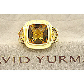 David Yurman 18K Yellow Gold Citrine Ring