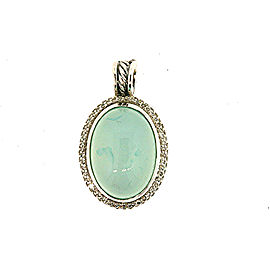 David Yurman Sterling Silver Chalcedony, Diamond Pendant