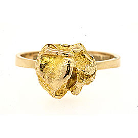 Lapponia Finland 14k Gold Nugget Ring size 5.75 RARE