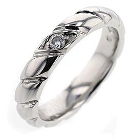 Chaumet 950 Platinum 0.05ctw Diamond Ring Size 4.5