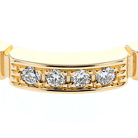 Cartier Mae Yong Pantail Ring 18K Yellow Gold 0.05ctw Diamond Size 4.75