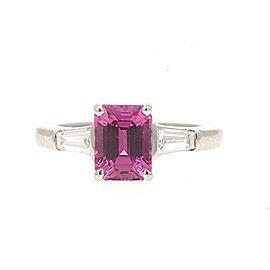 Tiffany & Co. 2.40ct Pink Sapphire .50ct Diamond Engagement Ring Platinum sz 6