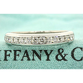 Tiffany & Co. Platinum Diamond Wedding Ring Size 10