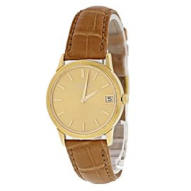 Patek Philippe Calatrava 3802 18k Yellow Gold Mens Watch