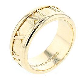 Tiffany & Co. 18K YG Atlas Ring Size 4
