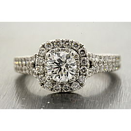 Vera Wang 14K White Gold Diamond Engagement Ring Size 6.75