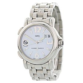 Ulysse Nardin Big Date GMT 223-22 Mother of Pearl Ladies Watch