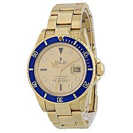 Rolex Submariner 16808 Diamond Serti Dial Mens Watch