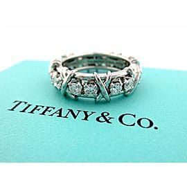 Tiffany & Co. Platinum Diamond Ring Size 7
