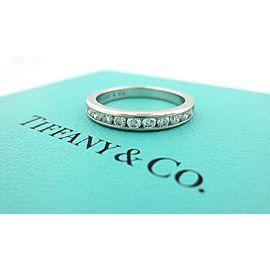 TIFFANY & CO PLATINUM .33CT DIAMOND 3MM SHARED ETERNITY WEDDING BAND SIZE 4.5