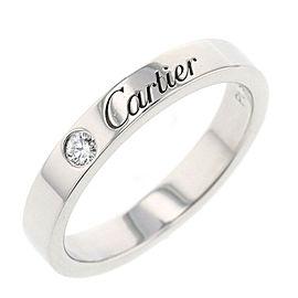 CARTIER Platinum Engraved 1P Ring Size 5.25