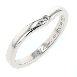 CARTIER Platinum Ballerina Curve Diamond Ring Size 4.75