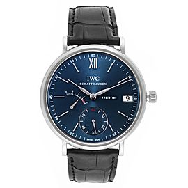 IWC Portofino 8 Days Power Reserve 45mm Blue Dial Mens Watch IW510106