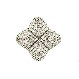 David Yurman Quatrefoil Diamond Ring 18k White Gold Pave 1.92ct Band Size 6.25