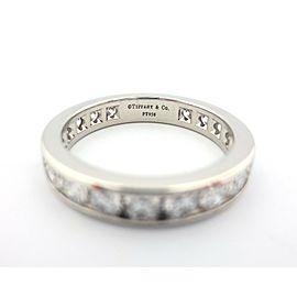 Tiffany 3.9mm Platinum 1.89ct Diamond Eternity Wedding Band Ring Size 8
