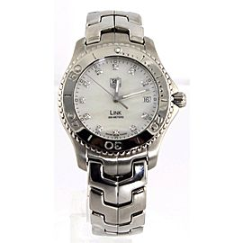TAG HEUER MENS LINK WJ1114.BA0575 MOTHER OF PEARL DIAMOND STEEL WATCH