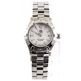 TAG HEUER LADIES AQUARACER WAF1414.BA0823 PEARL STEEL QUARTZ WATCH