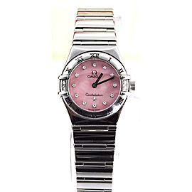 OMEGA CONSTELLATION 1566.66 MY CHOICE MOTHER OF PEARL DIAMOND LADIES WATCH